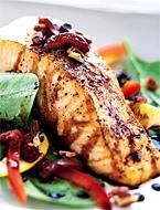 Roasted Salmon Salad With Honey Mustard Vinaigrette