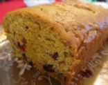 Cider pumpkin bread with Craisins and Pecans