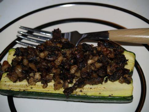 Raw Stuffed Zucchini