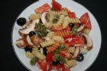 colorful rotini salad