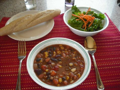 Thick Bean Soup with Veggies