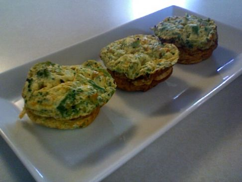 Mini Crustless Broccoli & Cheese Quiche
