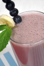 Banana Blueberry Breakfast Smoothie