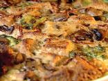 Broccoli, Mushroom, and Cheese Strata