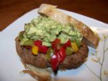 Turkey Burgers with Peppers and Avocado