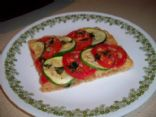Zucchini & tomato tart