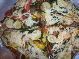 multi grain veggie pizza / 8 points