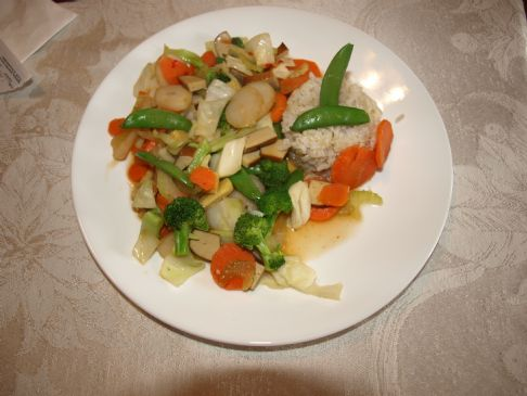 Vegetable/Tofu Stir Fry with A Spicy Teriyaki Sauce