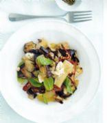 Roasted Eggplant, Basil & Ricotta Pasta