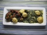 Turnip Greens with Cornbread Dumplings