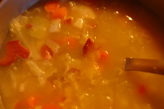 Cabbage soup Polish home style