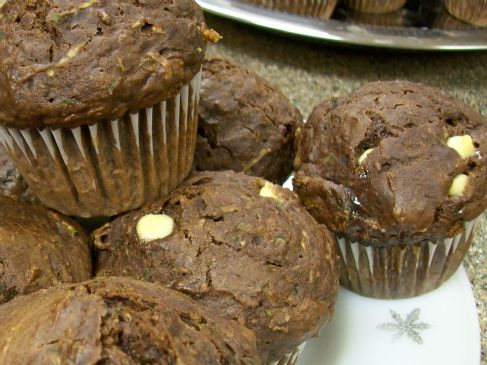 Rich Double - Chocolate Zucchini Muffins