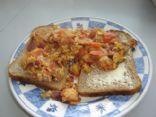 Summery Salsa Eggs (on bread)
