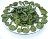 Steamed Fiddleheads