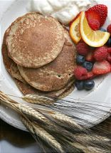 Whole Wheat Kernal Blender Pancakes