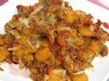 Butternut Squash with Walnuts, Sundried Tomatoes & Leeks