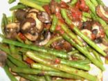 Green Beans with Mushrooms & Tomatoes