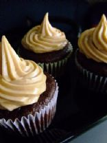Peanut Butter Truffle Filled Chocolate Cupcakes