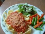 Yummified Spaghetti Sauce with Vegan Parmesan