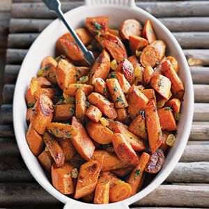 Roasted Spiced Carrots & Yams