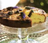 Roasted Lemon Cake with Lavender Syrup