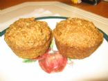 Whole wheat, oat bran, flax pineapple muffins