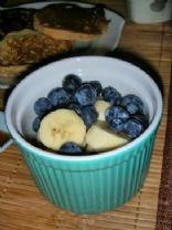 Banana Blueberry Breakfast Pudding (Raw & Gluten Free)