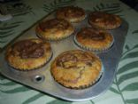 Banana Nut Muffins with Nutella Crowns
