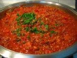 Dell's home made shaghetti sauce