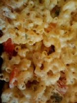 Mac and cheese: lots of veggies and yummy!