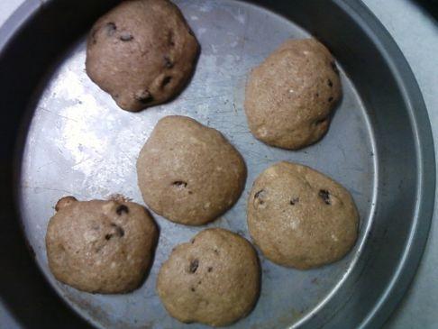 Whole Wheat Choocolare Chip Cookies w/Appleasuse, Splenda & Protein Powder