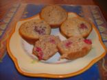 Raspberry Walnut Bran Muffins