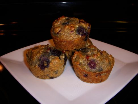 Very Berry Orange Oat Muffins