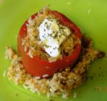 Salmon stuffed pepper