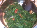 Kale with tomatoes and Garlic