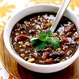 Weight watchers spicy black bean soup