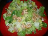 Spicy shrimp and spinach salad