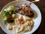 Marinated Chicken and Cheesy Potatoes