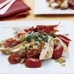 Skillet Chicken with Green Chile Sauce