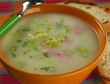 Leek soup (poriluk)