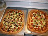 Whole Wheat Pizza w/ Turkey Pepperoni & Veggies