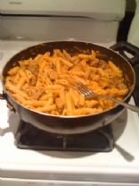 Pumpkin pasta with