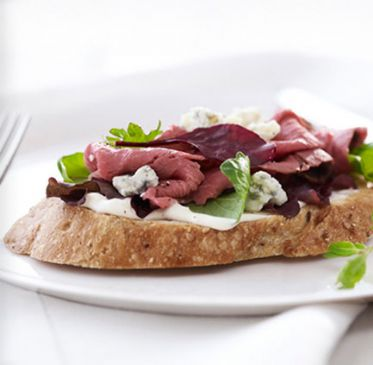 Open Face Roast Beef Sandwich