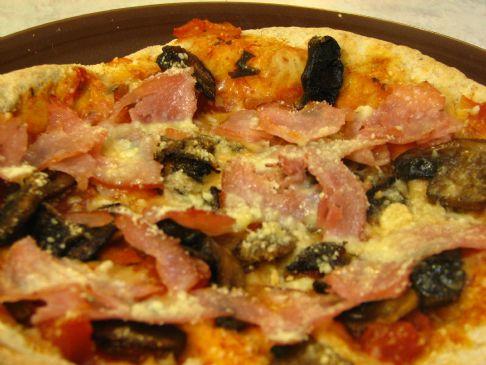 200 Calorie Ham & Mushroom Pizza