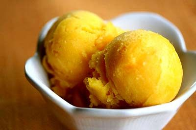 Mango and Lime sorbet