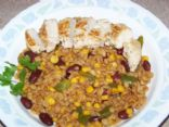 Southwest style Barley 'n Beans with Lime Chicken
