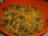 Butternut Squash and Leek Rice
