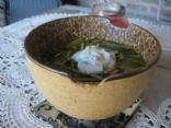 Persian Spinach & Lentil Soup with Yogurt Sauce