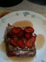 Skinny French Toast Stuffed W/ Strawberries & Cream Cheese
