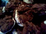 Devil's Food cupcakes with cream cheese filling